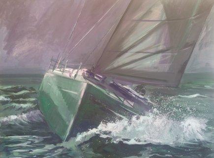 Green yacht