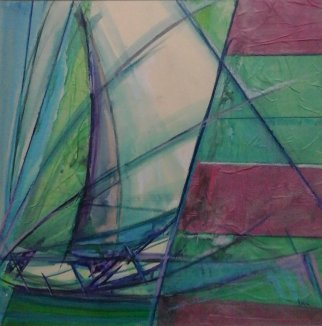Boat and sails study