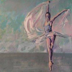 dancer with silk